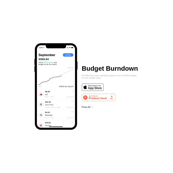 Budget Burndown – Visual spending tracker