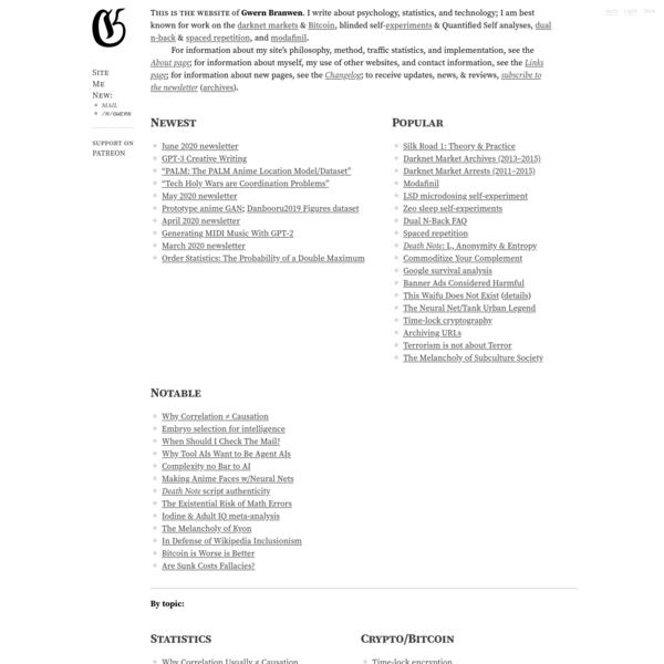 Gwern.net Index of Essays