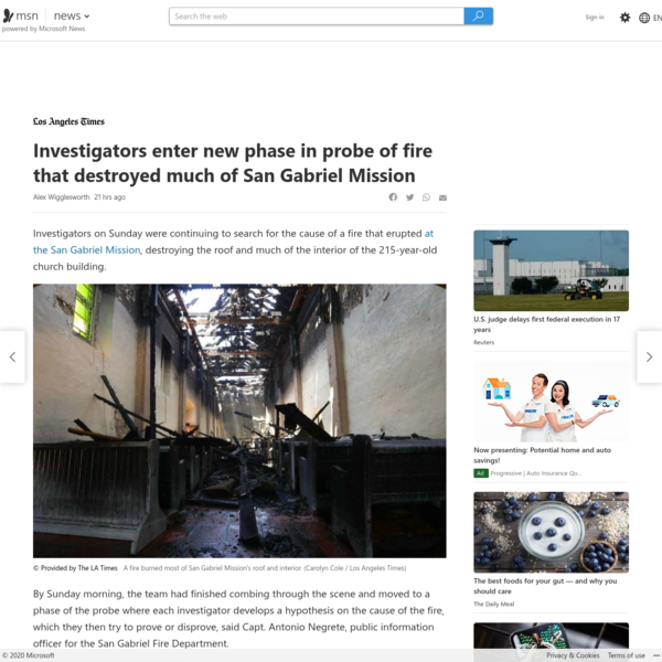 Investigators enter new phase in probe of fire that destroyed much of San Gabriel Mission