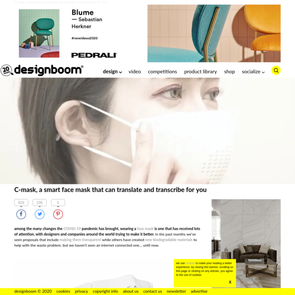 C-mask, a smart face mask that can translate and transcribe for you