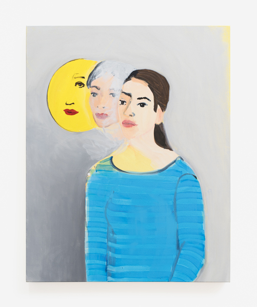 Becky Kolsrud, Double Portrait (Moon), 2016