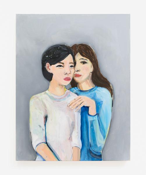 Becky Kolsrud, Double Portrait (Hiding), 2016