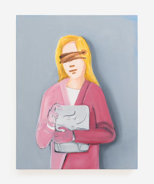 Becky Kolsrud, Double Portrait (Pink Hands), 2016