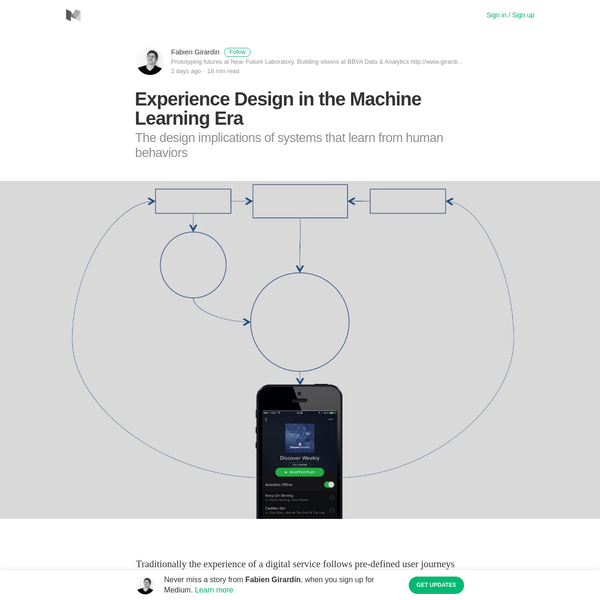 Experience Design in the Machine Learning Era