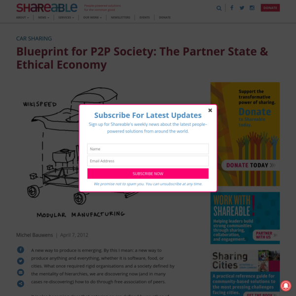 Blueprint for P2P Society: The Partner State & Ethical Economy - Shareable