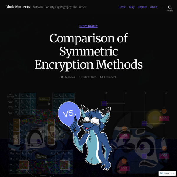 Comparison of Symmetric Encryption Methods