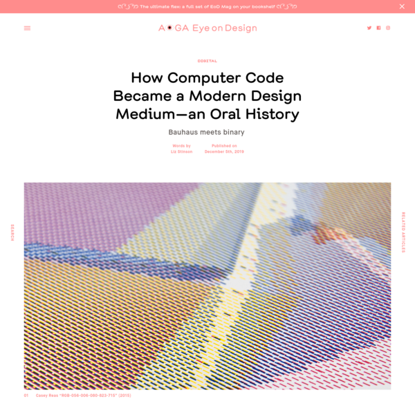 How Computer Code Became a Modern Design Medium-an Oral History