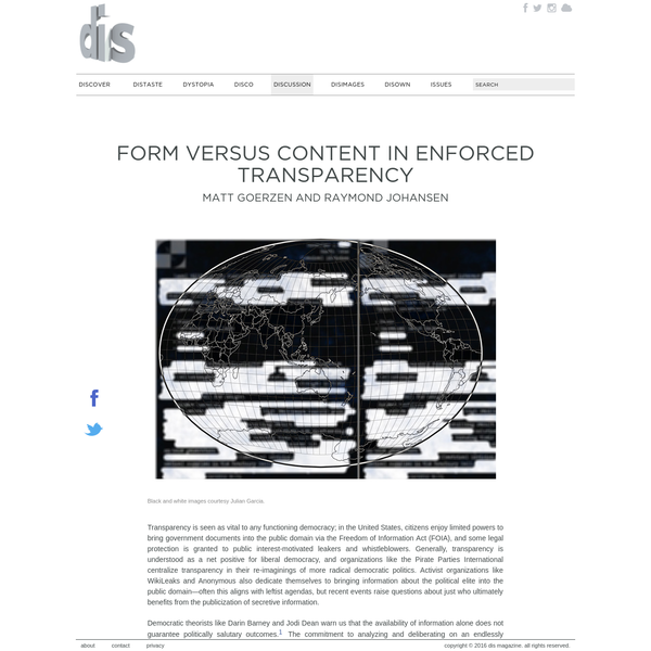 Form versus Content in Enforced Transparency