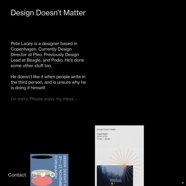 designtdoesntmatter