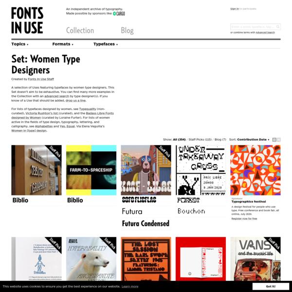 Women Type Designers