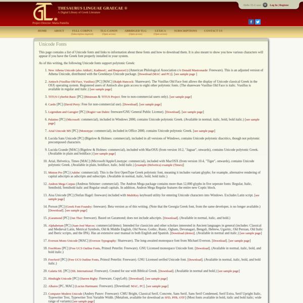 TLG - Fonts