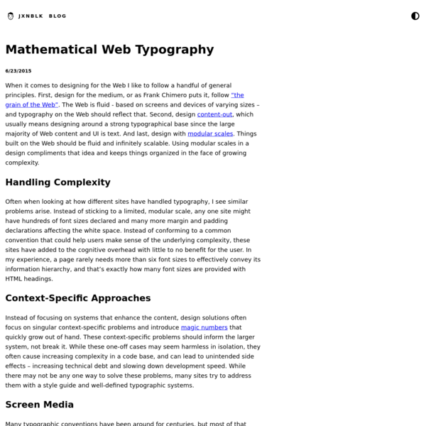 Mathematical Web Typography | Jxnblk