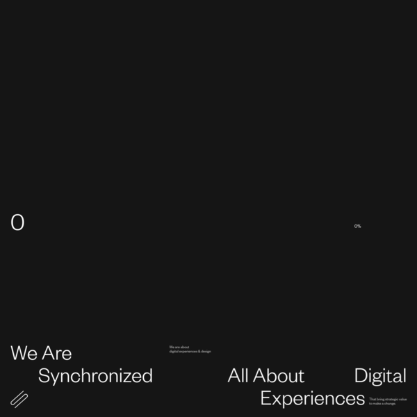 Synchronized is a full-service creative studio.