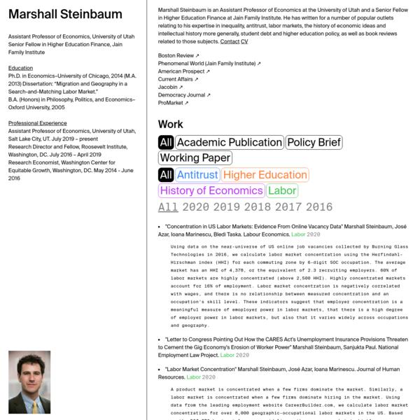 Marshall Steinbaum
