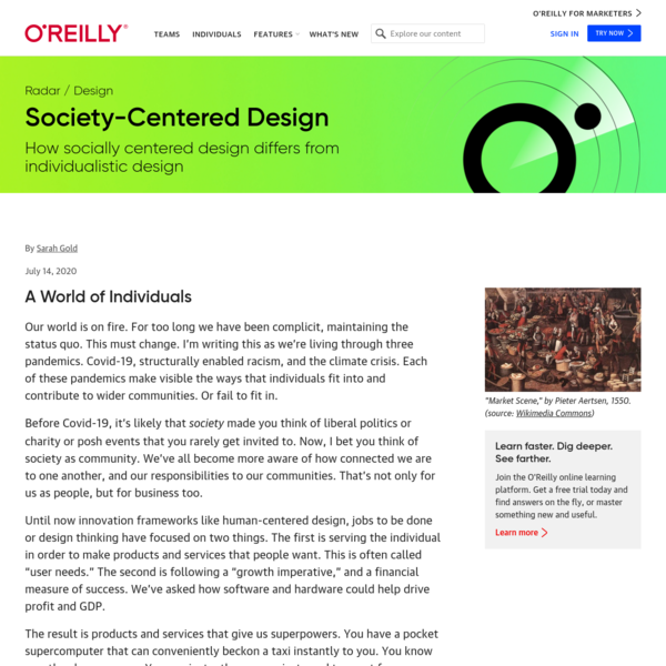 Society-Centered Design – O'Reilly