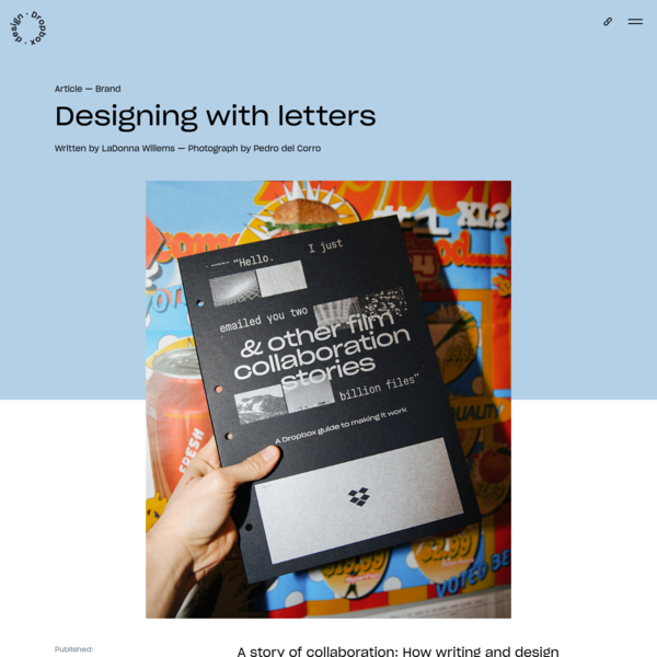 Designing with letters   Dropbox Design
