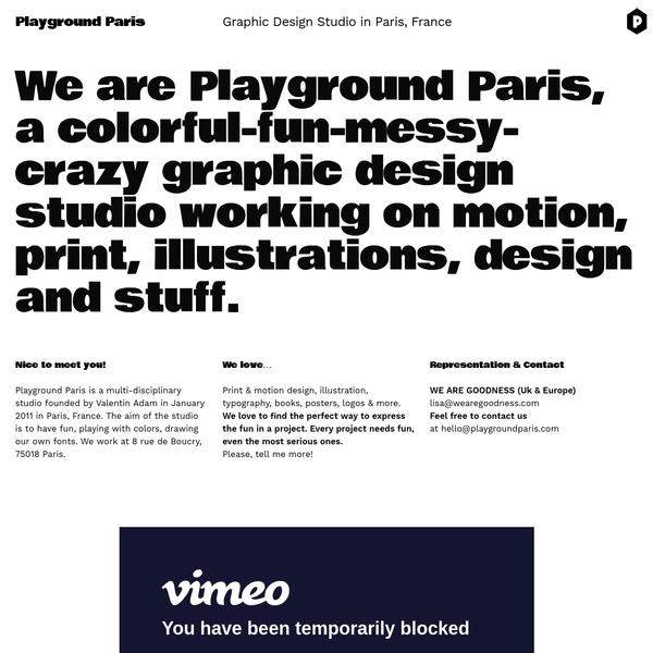 Playground Paris - Graphic Design Studio in Paris