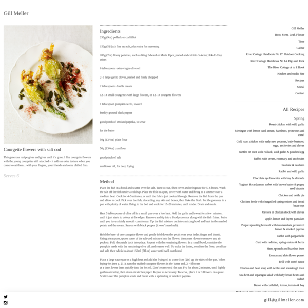 Courgette flowers with salt cod | Gill Meller