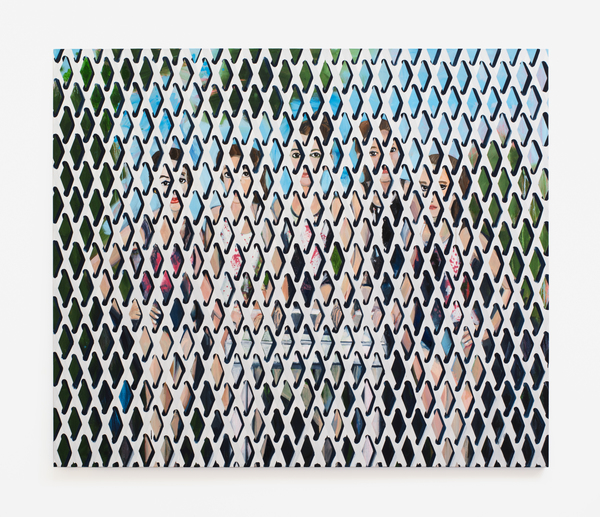 2016.11 Becky Kolsrud: Art Basel Miami Beach, Gymnasts with Security Gate, 2016