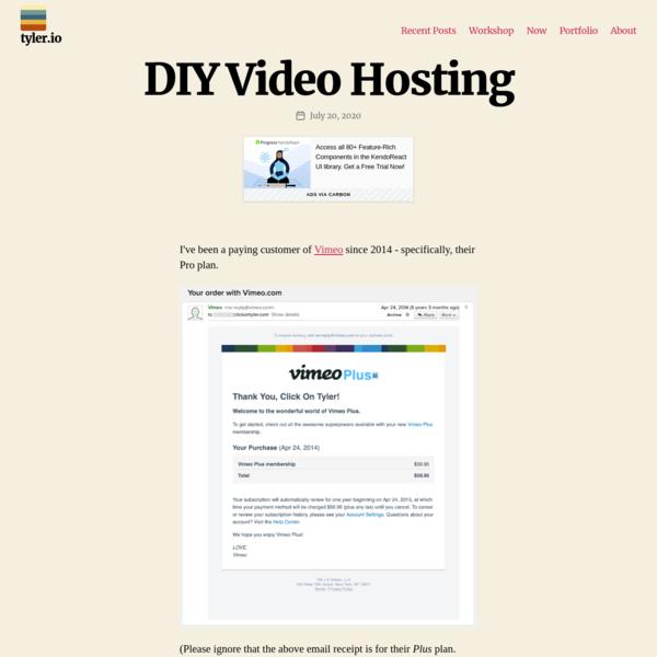 DIY Video Hosting