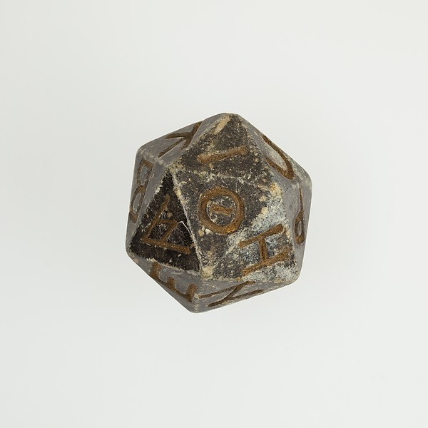 Egyptian d20 die