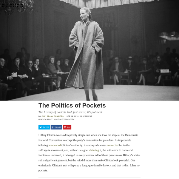 The Sexist, Political History of Pockets