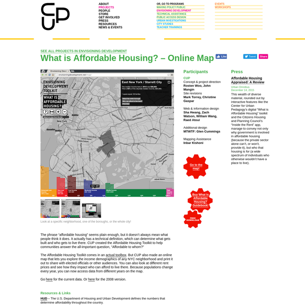 CUP: What Is Affordable Housing Online Map