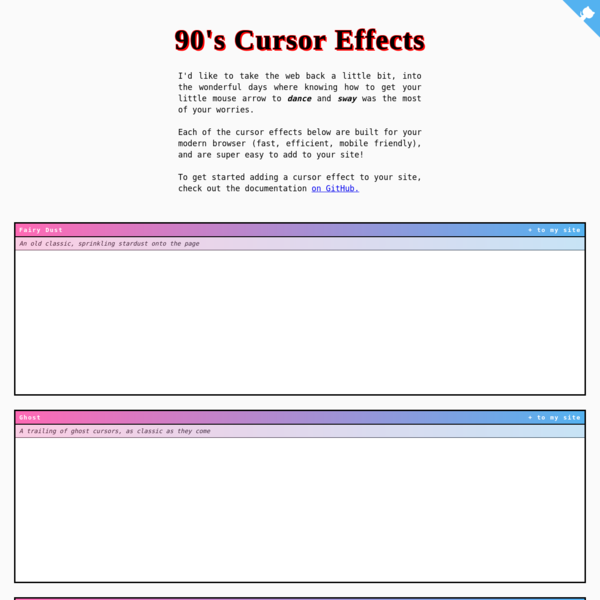 90's Cursor Effects