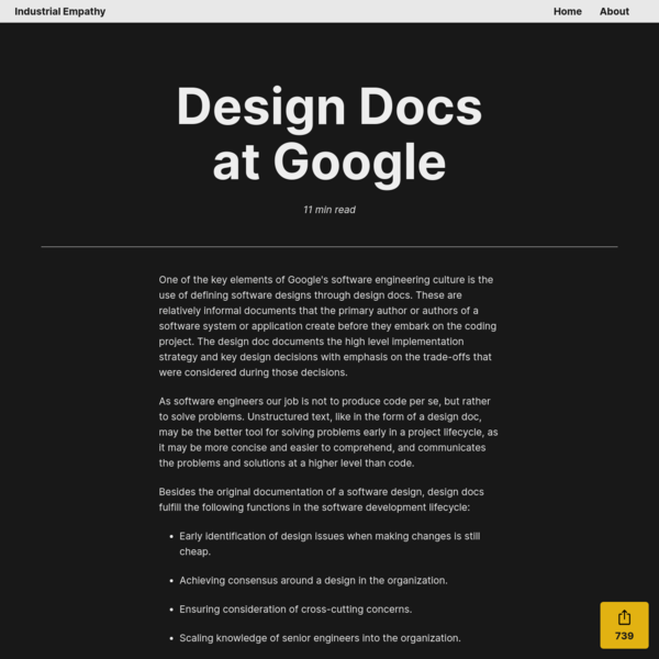 Design Docs at Google