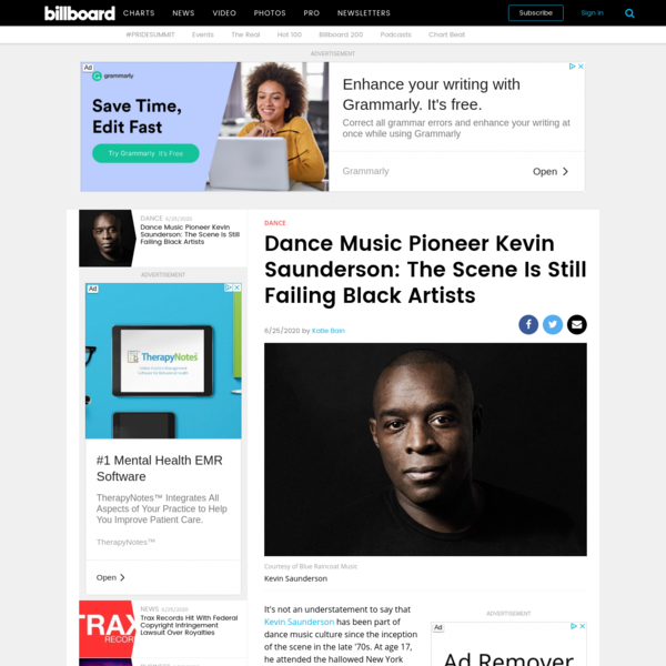 Dance Music Pioneer Kevin Saunderson: The Scene Is Still Failing Black Artists