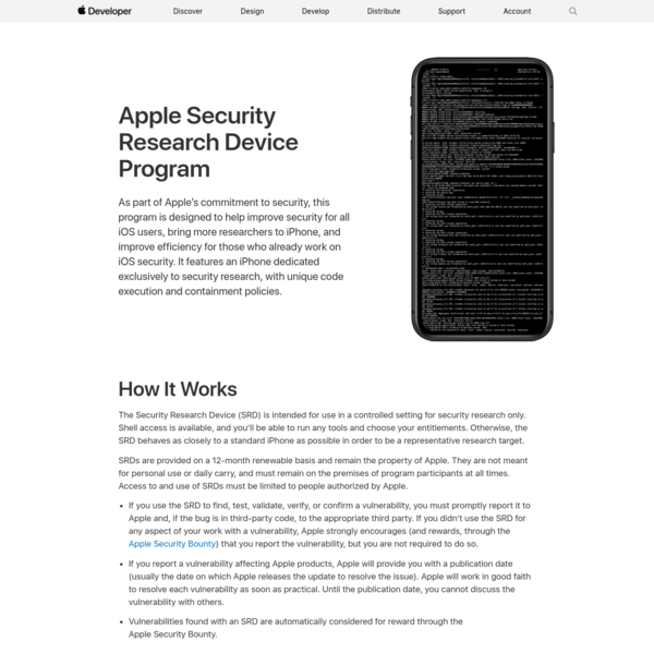 Apple Security Research Device Program - Apple Developer