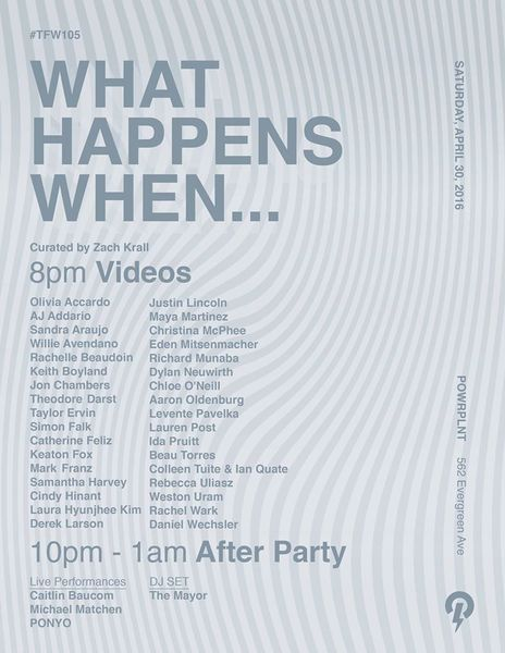 What Happens When... Event Poster