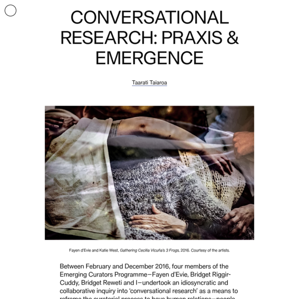 Conversational Research: Praxis & Emergence
