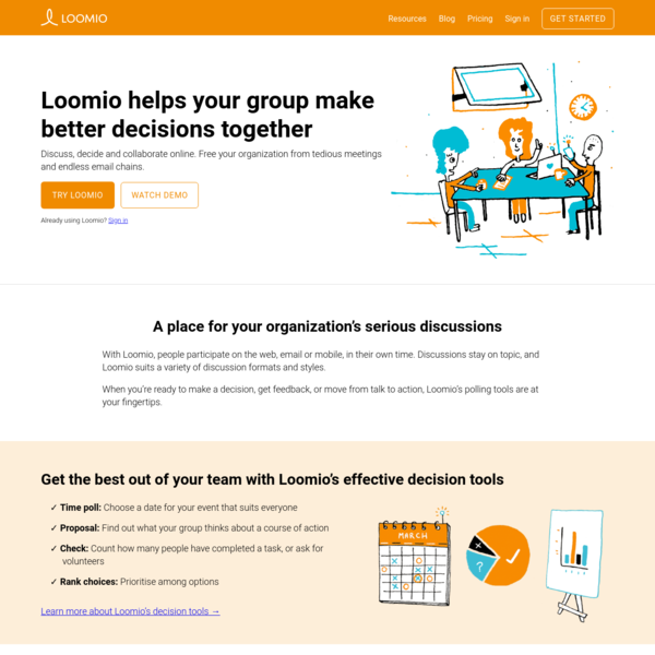 Loomio - Make decisions without meetings