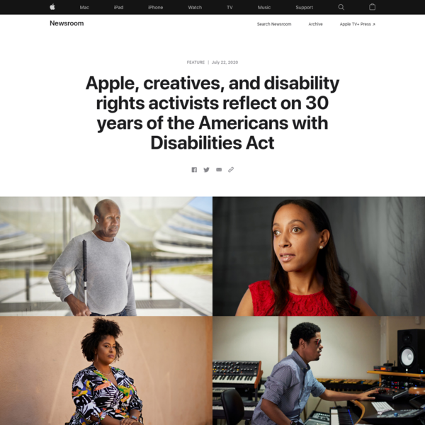 Apple, creatives, and disability rights activists reflect on 30 years of the Americans with Disabilities Act
