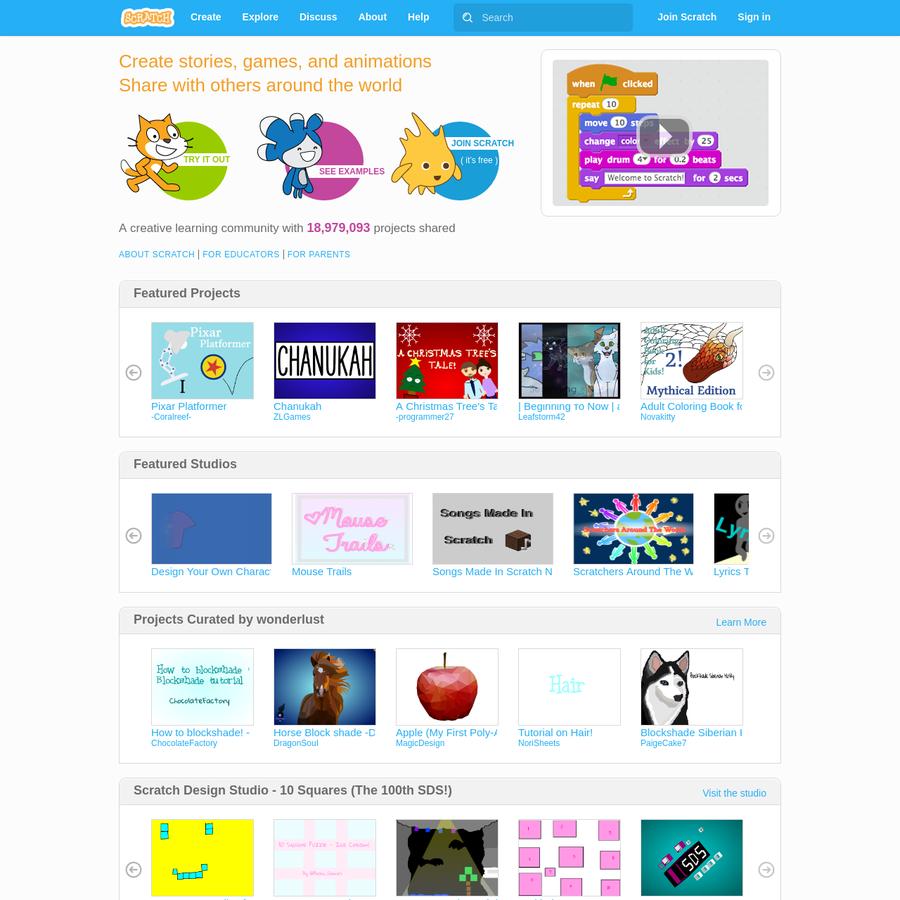 Are.na / Scratch - Imagine, Program, Share