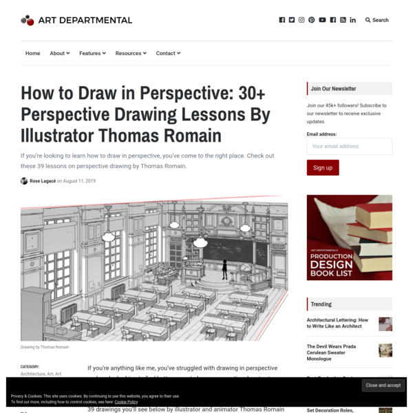 30+ Perspective Drawing Lessons By Artist Thomas Romain