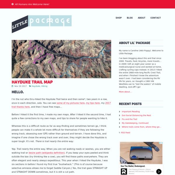 Hayduke Trail Map – Little Package