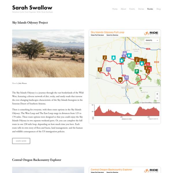 Routes — Sarah Swallow