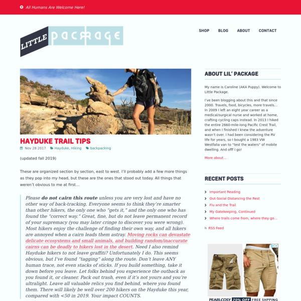 Hayduke Trail Tips - Little Package