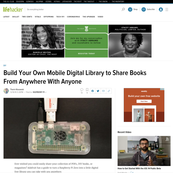 Build Your Own Mobile Digital Library to Share Books From Anywhere With Anyone
