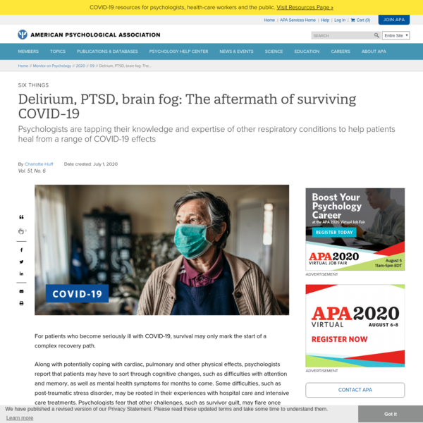 Delirium, PTSD, brain fog: The aftermath of surviving COVID-19