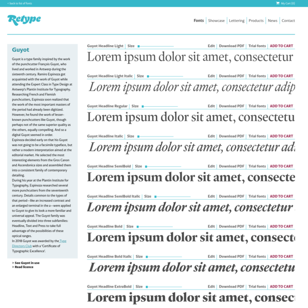 Guyot (designed by Ramiro Espinoza for ReType, 2017)
