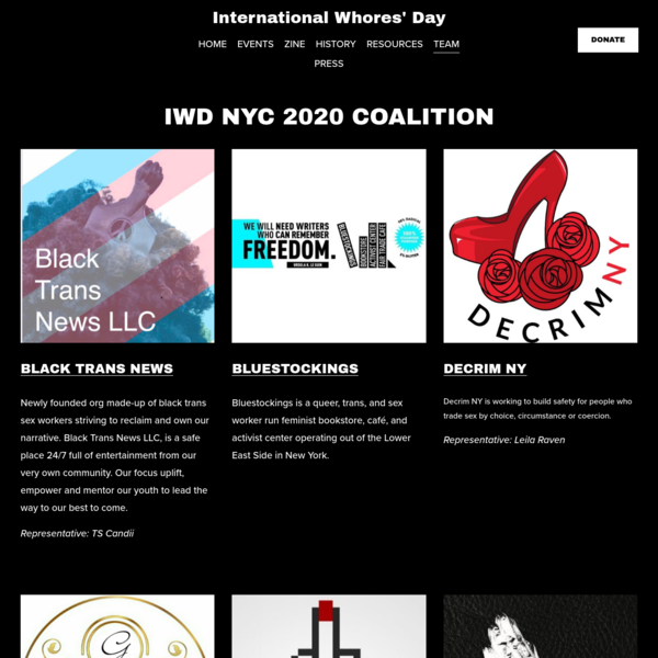 COALITION - International Whores' Day