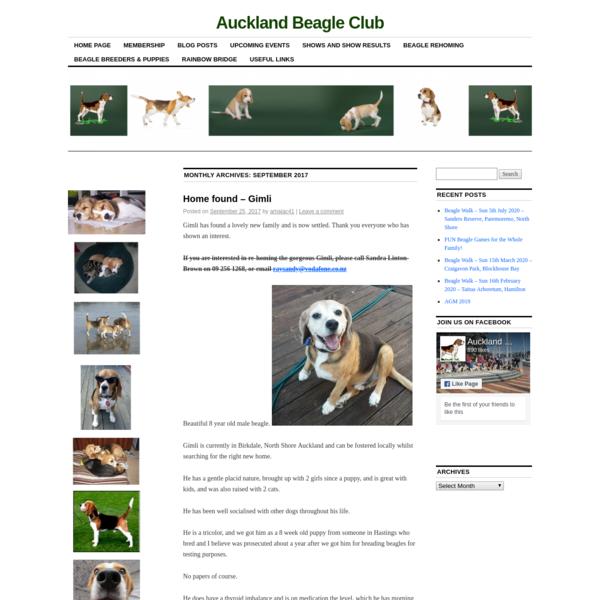 September   2017   Auckland Beagle Club