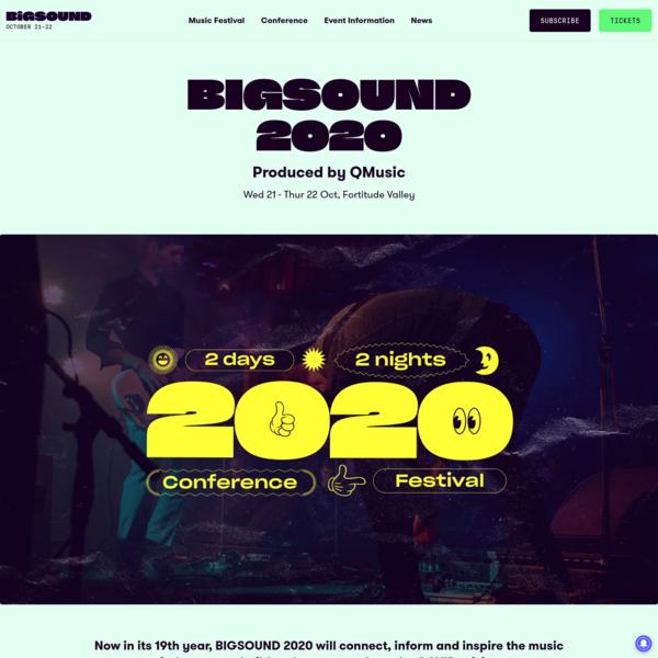 BIGSOUND 2020   21 - 22 Oct