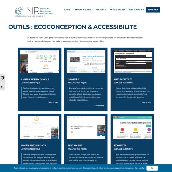 Outils écoconception et accessibilité