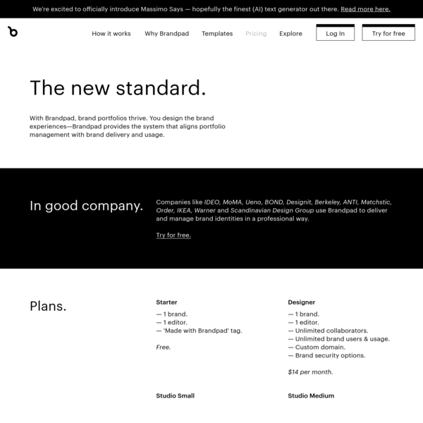 Brand guidelines pricing - Brandpad™
