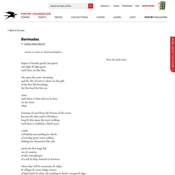 Bermudas by Kamau Brathwaite | Poetry Foundation
