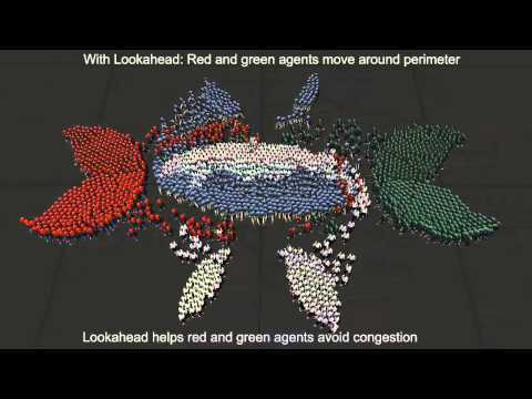 Local collision avoidance algorithms in crowd simulation often ignore agents beyond a neighborhood of a certain size. This cutoff can result in sharp changes in trajectory when large groups of agents enter or exit these neighborhoods.